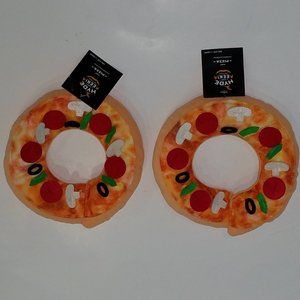 NWT 2 Pizza Collar Cat Costume Accessory Halloween